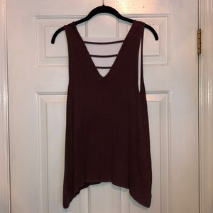 Soft & Sexy Ribbed Purple Strappy Tank